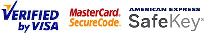 Verified by visa, MasterCard SecureCode and American Express SafeKey