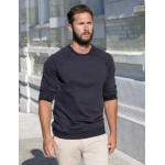Navy blue Garçon sweat-shirt - embossed